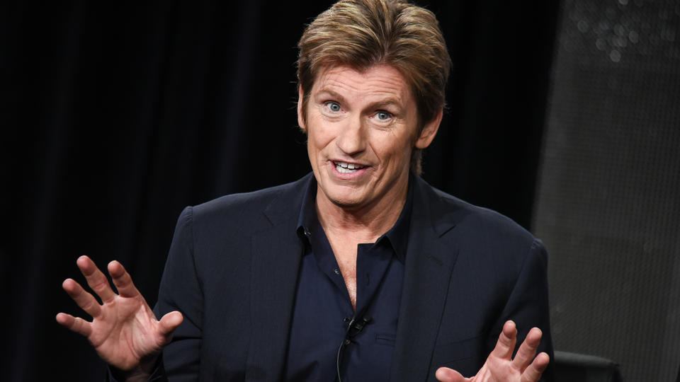 "Denis Leary speaks on stage during the ""Sex&Drugs&Rock&Roll"" panel at the FX 2015 Winter TCA on Sunday, Jan. 18, 2015, in Pasadena, Calif. (Photo by Richard Shotwell/Invision/AP)"
